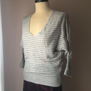 American Eagle Outfitters Gray Striped Sweater XS